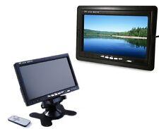 MONITOR LCD TFT 7'' TELECAMERA RETROMARCIA A COLORI CON TELECOMANDO AUTO CAMPER