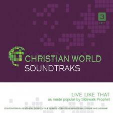 Sidewalk Prophets - Live Like That - Accompaniment CD New