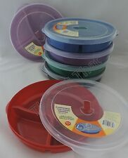 Set of 12 Microwave Plate w/Vented Lid Divided 3 Compartment Food Storage Freeze