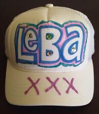 Bejeweled Graphic  Snapback Trucker Mesh Hat Cap Initials LEBA ONE SIZE FITS ALL