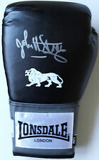 JOHN H STRACEY Signed In Person LONSDALE BOXING GLOVE Photo Proof COA