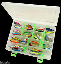 USA 30 PCS Fishing Lures Crankbaits Hooks Minnow Baits With Tackle Storage Box