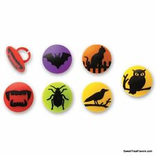 Halloween Decoration Cake Cupcake Toppers x12 Spider Skulls Insects BATS Cat Owl
