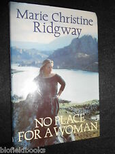SIGNED; No Place for a Woman by Marie Christine Ridgway (Hardback, 1991-1st) Bio