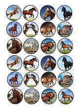 24 Edible cake toppers decorations Horse Horses