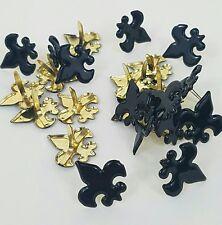 Scrapbooking Brads Fleur de Lis Black Noir 24 pc Cub Boy Scouts Paper Art Crafts