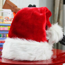 Plush Red and White Santa Claus Caps Santa's Hat for Christmas Party Costume