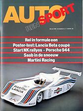 1982 AUTO RENSPORT MAGAZIN 2 LANCIA BETA COUPE RENAULT DIDIER PIRONI