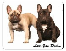 French Bulldogs 'Love You Dad' Computer Mouse Mat Christmas Gift Idea, DAD-27M