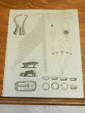 1817 Antique Print/ANCESTRY, CORNET, CROWN, CROMLECH, CROWTH, CORONA