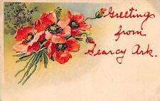SEARCY ARKANSAS GREETINGS FROM UNUSED POSTCARD c1910s WITH EMBOSSED FLOWERS