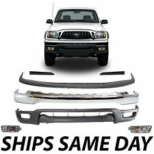 New Complete Front Bumper Combo Filler Kit W/ Fog Lights 2001-2004 Toyota Tacoma