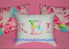 NEW Monogram pillow made with LILLY PULITZER Hotty Pink First Impression Fabric