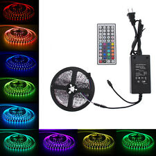 300Leds  5M 5050 SMD RGB LED Light Strip Flexible +44 key IR+12V 5A Power Supply