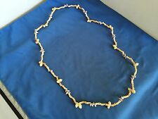 WONDERFUL VINTAGE ESTATE FIND EXTRAVAGANT CREAM- PURPLE POOKA SHELL NECKLACE A1