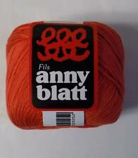 ANNY BLATT MERCERIZED COTTON DK/LIGHT WORSTED WT YARN 1 BALL COQUELICOT (31W)