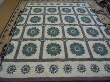Nice Multi-Color Whole Cloth Dahlia w/Sashing Quilt