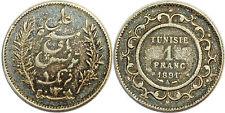 TUNISIE 1 FRANC 1891 KM#224