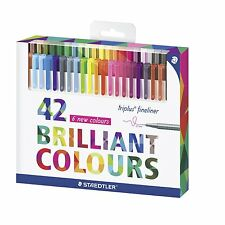 Staedtler Color Pen Set, 334C42 Set of 42 Assorted Colors (Triplus Fineliner Pen