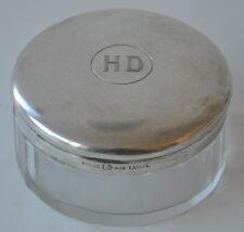 RANGE Deckeldose aus facettiertem Glas mit Silberdeckel 800er Silber HD