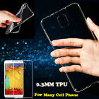 0.3MM TPU Ultra Thin Crystal Clear Transparent Soft Case For Cell Phone Models