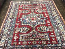 AUTHENTIC PAKI KAZAK RUG HAND KNOTTED IN PAKISTAN  7' X 5' 10""
