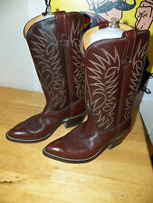 Vintage ACME BRAND Brown Two Tone 30068 MEN'S Cowboy Western BOOTS Size 6.5