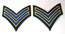 2X STRIPES NAVY ARMY MILITARY Embroidered Iron Sew On Cloth Patch Badge APPLIQUE