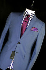 BNWT MENS PAUL SMITH LONDON BRUSHED COTTON BABY BLUE TAILOR-MADE UIT 38R W32