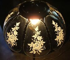 **** VINTAGE TIFFANY STYLE STAINED GLASS FLORAL HAND PAINTED LAMP SHADE #24*****