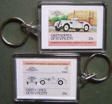 1936 BMW 328 Sports Car Stamp Keyring (Auto 100 Automobile)