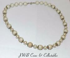 Ladies Pearl Style Necklace With Silver Clasp - Length 460mm - Costume Jewellery