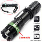 3000 LM Zoom CREE XM-L Q5 LED Flashlight Tactical Focus Torch Lamp Light 3 Modes