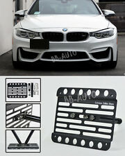 For 15-Up BMW F82 F83 4-Series M4 Front Tow Hook License Plate Bracket NO PDC