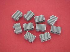 Lego Star Wars 10 briques à rainures gris clair neuves REF 2877 SET 7676 75093