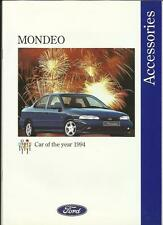 FORD MONDEO ACCESSORIES ILLUSTRATED (INC.RS BODY/ALLOYS) SALE BROCHURE JUNE 1994