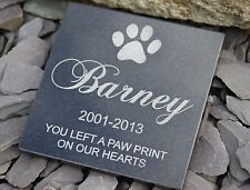 Personalised Engraved Natural Granite Pet Memorial Grave Marker Plaque