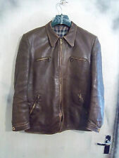 VINTAGE WW2 GERMAN HARTMANN HORSEHIDE LEATHER FLYING JACKET SIZE S ZIPP ZIPS