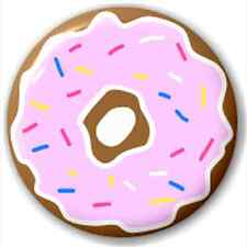Small 25mm Lapel Pin Button Badge Novelty Donut