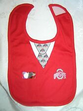 OHIO STATE Buckeyes Baby Bib College Football Fan OSU  NEW Babies LOVE THIS!