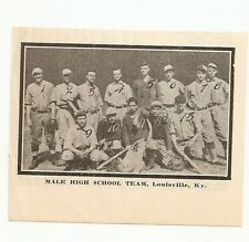 Male High School Louisville KY 1912 Team Picture Baseball
