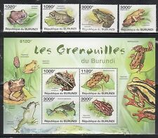 Burundi 902-906 Frogs Mint NH