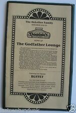 Restaurant Menu For Dominic's Home Of The Godfather Lounge Closed