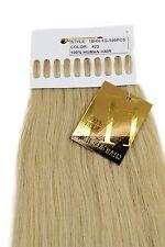 Echthaar Extensions Set 100 x 1g Strähnen Keratin Bondings 49cm Blond 18HH-1G-22