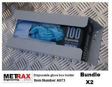 2x Disposable Glove Box Holder. Van Truck racking / garage / shed accessory