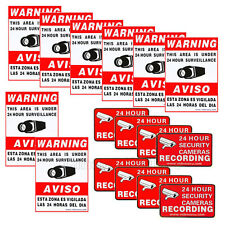 16x Security Camera Sign Decal Sticker Warning Alarm Video Surveillance Home CLW