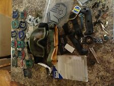 MILITARY PATCH LOT SET FULL OF RANK INSIGNIA PATCHES RIBBONS MEDALS AIR FORCE AR