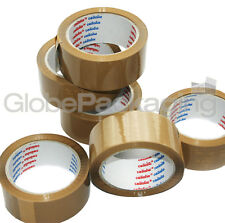 12 Rolls LOW NOISE BROWN Packaging Parcel Tape 48mmx66M