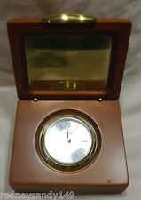 Danbury  Clock Company Heavy Wooden Box Table Top Clock