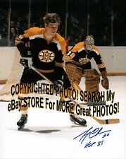 #4 Bobby ORR Gerry CHEEVERS Signed AWAY Uniform BOSTON Bruins FACE OFF 8X10 NEW!